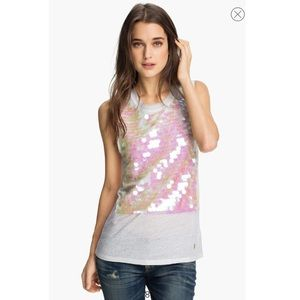 NWT Juicy Couture Paillette Tank white size XS